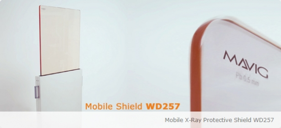 Height-Adjustable, Mobile X-Ray Protective Shield WD257